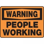 """Accuform MEQM327XV10, 10″ x 14″ Safety Sign """"People Working"""""""