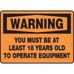 """Accuform MEQM328XV10, 10″ x 14″ Safety Sign """"You Must Be At …"""""""