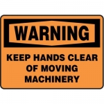 """Accuform MEQM333XV10, 10″ x 14″ Safety Sign """"Keep Hands …"""""""