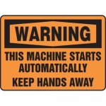 """Accuform MEQM337XV10, 7″ x 10″ Safety Sign """"This Machine Starts …"""""""