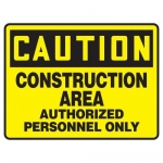 """Accuform MEQM602XL10, 10″ x 14″ Safety Sign """"Construction Area …"""""""