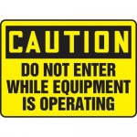"""Accuform MEQM609XF10, 12″ x 18″ Safety Sign """"Do Not Enter …"""""""