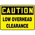 """Accuform MEQM617XV10, 7″ x 10″ Safety Sign """"Low Overhead Clearance"""""""