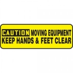 """Accuform MEQM649XT10, 4″ x 12″ Safety Sign """"Moving Equipment …"""""""