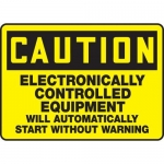 "Accuform MEQM656XT10, 10″ x 14″ Safety Sign ""Electronically …"""
