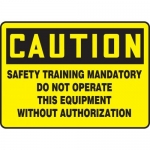 """Accuform MEQM702XV10, 7″ x 10″ Safety Sign """"Safety Training …"""""""