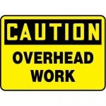"Accuform MEQM705XV10, 7″ x 10″ OSHA Safety Sign ""Overhead Work"""
