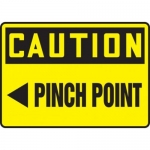 "Accuform MEQM708XT10, 10″ x 14″ OSHA Safety Sign ""Pinch Point"""