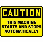 """Accuform MEQM720XV10, 7″ x 10″ Safety Sign """"This Machine …"""""""