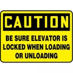 """Accuform MEQM731VP10, 10″ x 14″ Safety Sign """"Be Sure Elevator Is …"""""""