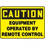 "Accuform MEQM736XT10, 10″ x 14″ Safety Sign ""Equipment Operated …"""