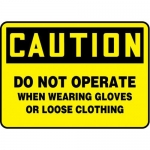 """Accuform MEQM741XP10, 10″ x 14″ Safety Sign """"Do Not Operate …"""""""