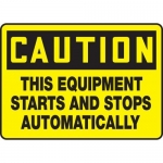 """Accuform MEQM763XV10, 7″ x 10″ Safety Sign """"This Equipment Starts …"""""""