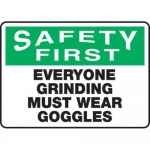 """Accuform MEQM903XF10, 10″ x 14″ Safety Sign """"Everyone Grinding …"""""""