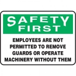 """Accuform MEQM908XV10, 10″ x 14″ Safety Sign """"Employees Are …"""""""