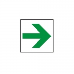 Accuform MEXT417XV10, 8″ x 8″ Arrow Safety Sign Exit Route Arrow