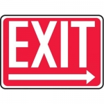 "Accuform MEXT442XV10, 10″ x 14″ Safety Sign ""Exit"" Right Arrow Symbol"