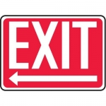 "Accuform MEXT443XV10, 10″ x 14″ Safety Sign ""Exit"" Left Arrow Symbol"