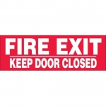 """Accuform MEXT456XT10, 4″ x 12″ Safety Sign """"Fire Exit …"""""""