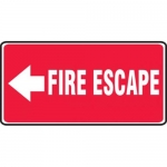 "Accuform MEXT508XV10, 7″ x 14″ Safety Sign ""Fire Escape"" Left Arrow"