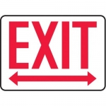 "Accuform MEXT519XV10, 10″ x 14″ Safety Sign ""Exit"" Two Way Arrows"
