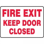 """Accuform MEXT522XT10, 10″ x 14″ Safety Sign """"Fire Exit – Keep …"""""""