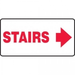 """Accuform MEXT532XV10, 7″ x 14″ Safety Sign """"Stairs"""" Right Arrow Symbol"""