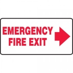 """Accuform MEXT533XV10, 7″ x 14″ Safety Sign """"Emergency Fire Exit"""""""