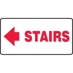 """Accuform MEXT534XV10, 7″ x 14″ Safety Sign """"Stairs"""" Left Arrow Symbol"""