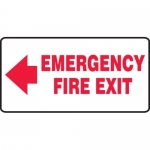 """Accuform MEXT535XV10, 7″ x 14″ Safety Sign """"Emergency Fire Exit"""""""