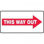 """Accuform MEXT536XV10, 7″ x 14″ Safety Sign """"This Way Out"""""""