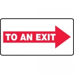 """Accuform MEXT537XV10, 7″ x 14″ Safety Sign """"To An Exit"""""""