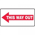 """Accuform MEXT538XV10, 7″ x 14″ Safety Sign """"This Way Out"""""""