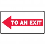 """Accuform MEXT540XV10, 7″ x 14″ Safety Sign """"To An Exit"""""""