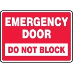 """Accuform MEXT547XT10, 10″ x 14″ Safety Sign """"Emergency Door …"""""""