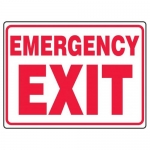 "Accuform MEXT548XF10, 18″ x 24″ Safety Sign ""Emergency Exit"""