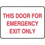"""Accuform MEXT553XL10, 7″ x 10″ Safety Sign """"This Door For …"""""""