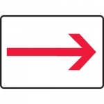 Accuform MEXT556XV10, 7″ x 10″ Safety Sign Red Arrow