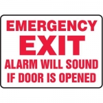"""Accuform MEXT565XT10, 10″ x 14″ Safety Sign """"Emergency Exit …"""""""