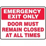 """Accuform MEXT569XT10, 10″ x 14″ Safety Sign """"Emergency Exit Only …"""""""