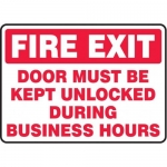 """Accuform MEXT571XV10, 10″ x 14″ Safety Sign """"Fire Exit – Door …"""""""