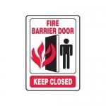 """Accuform MEXT577XT10, 14″ x 10″ Safety Sign """"Fire Barrier Door …"""""""