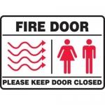 "Accuform MEXT582XL10, 7″ x 10″ Safety Sign ""Fire Door …"""