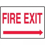 """Accuform MEXT594XV10, 7″ x 10″ Safety Sign """"Fire Exit"""" Right Arrow"""