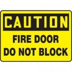 """Accuform MEXT603XL10, 10″ x 14″ Safety Sign """"Fire Door Do Not Block"""""""