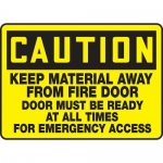 """Accuform MEXT630XT10, 10″ x 14″ Safety Sign """"Keep Material Away …"""""""