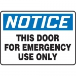 """Accuform MEXT802XT10, 7″ x 10″ Safety Sign """"This Door For …"""""""