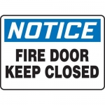 """Accuform MEXT806XT10, 10″ x 14″ Safety Sign """"Fire Door Keep Closed"""""""