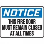 """Accuform MEXT815XT10, 10″ x 14″ Safety Sign """"This Fire Door Must …"""""""