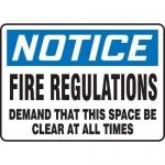 "Accuform MEXT820XT10, 10″ x 14″ Safety Sign ""Fire Regulations …"""